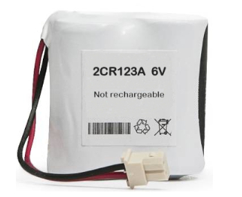 Lithium Manganese Battery Pack 2CR123A 6V